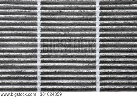 Close Up Macro Of Clean Car Air Conditioner Filter Surfaces