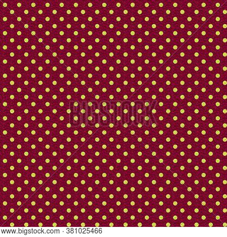 Textured Polka Dot Pattern In Deep Red And Chartreuse Small Dots In 12x12 Design Element For Backgro