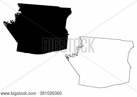 Hart County, Kentucky (u.s. County, United States Of America, Usa, U.s., Us) Map Vector Illustration