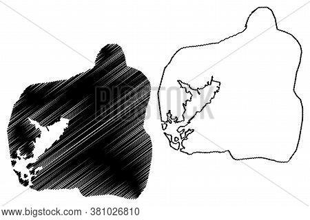 Santiago De Cuba City (republic Of Cuba) Map Vector Illustration, Scribble Sketch City Of Santiago D