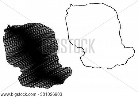 Santiago De Los Caballeros City (dominican Republic, Hispaniola Island) Map Vector Illustration, Scr