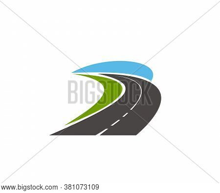 Road Pathway And Highway Icons, Vector Speed Route And Race Track, Vector Sign. Road Safety Construc