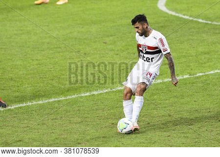 Rio, Brazil - August 16, 2020: Liziero Player In Match Between Vasco And Sao Paulo By Brazilian Cham
