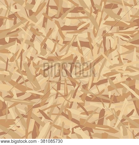 Oriented Particle Board (osb Wood Texture). Lumber Pattern. Sheet Of Plywood With Fragments Of Compr