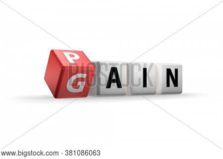 No pain no gain concept - 3d rendering