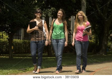 Portrait Of Three Young Students