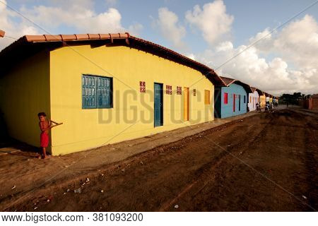 Porto Seguro, Bahia / Brazil - April 30, 2010: Housing From The Minha Casa, Minha Vida Project Are S