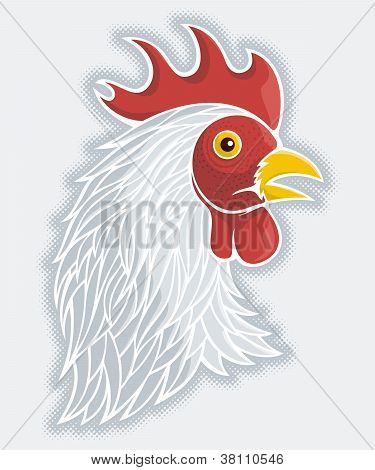 Gray Rooster's Head