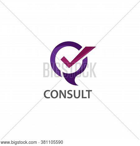 Talk Consult Logo Design, Business Logo Template Design Concept Vector