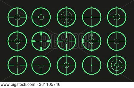 Target Icon. Crosshair And Aim Of Sniper. Sight For Gun, Rifle For Military. Logo Of Periscope In Ar