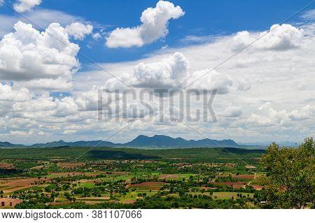 Landscape Viewpoint At Wat Pa Phu Hai Long In Pak Chong, Nakhon Ratchasima. Thailand.