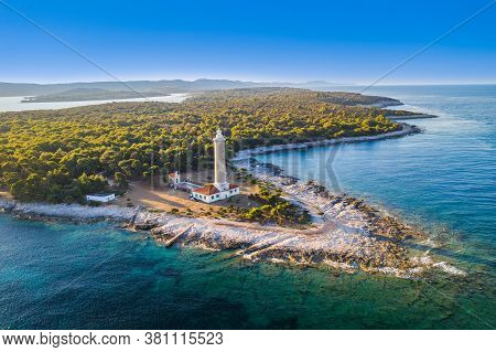Amazing Croatia, Spectacular Adriatic Coastline, Lighthouse Of Veli Rat On The Island Of Dugi Otok D