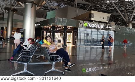 Russia, Moscow 03,06,2018 Waiting Lounge Vnukovo Airport