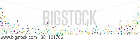 Festive Comely Confetti. Celebration Stars. Festive Confetti On White Background. Adorable Festive O