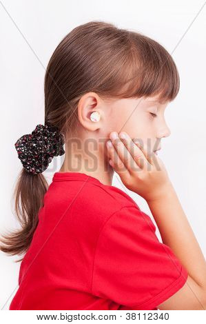 Girl With Ear Plugs In Your Ears