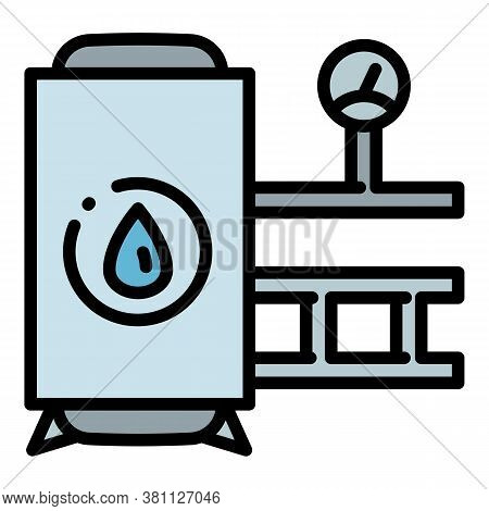 Pool Tank Filter Icon. Outline Pool Tank Filter Vector Icon For Web Design Isolated On White Backgro
