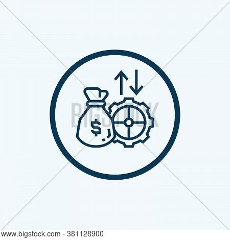 Fixed Interest Rate Icon Isolated On White Background From Payment Element Collection. Fixed Interes