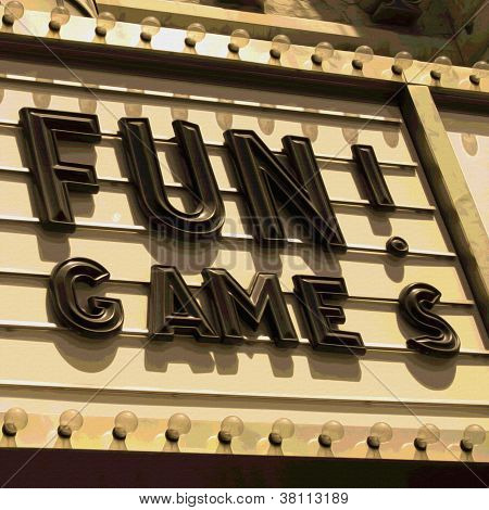 Fun Games Neon Sign Letters