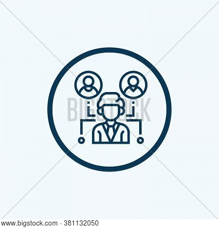 Working Outsource Employees Icon Vector. Working Outsource Employees Sign. Isolated Contour Symbol I