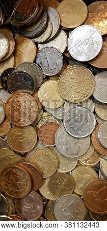Russia, St. Petersburg 02.01,2019 Coins In The Shop For Coin Collectors