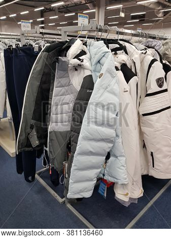 Finland, Lappeenranta 03,02,2019 Winter Sports Jackets For Sale In The Store