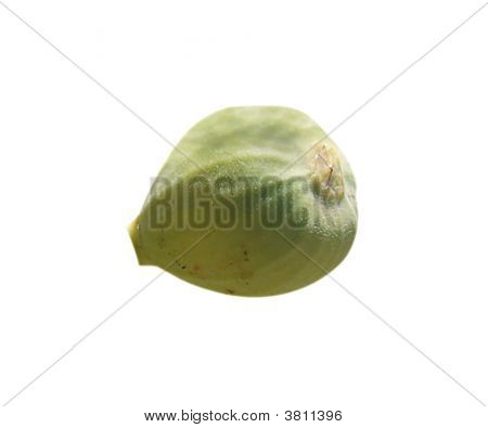 Green Fig On White Background (With Clipping Path)