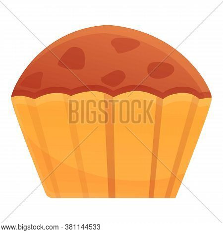 Homemade Cupcake Icon. Cartoon Of Homemade Cupcake Vector Icon For Web Design Isolated On White Back