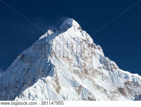 Mount Nuptse, Beautiful Mount Near Everest, Sagarmatha National Park, Khumbu Valley, Solukhumbu, Nep