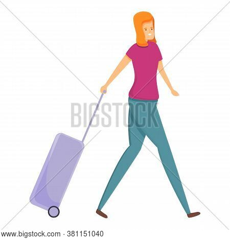 Family Holidays Start Icon. Cartoon Of Family Holidays Start Vector Icon For Web Design Isolated On