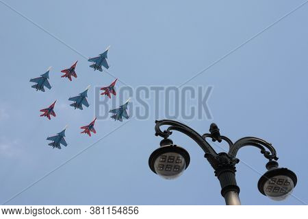 Moscow, Russia - June 20, 2020:the Flight Groups