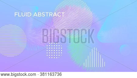 Vibrant Background. Pastel Modern Flyer. Color Futuristic Concept. Wave Graphic Movement. Neon 3d Vi