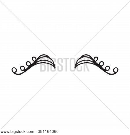 Cute Design Silhouette Eyelashes Closed Female Eyes. Vector Illustration