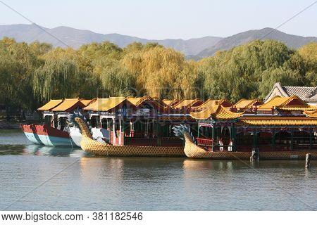 Beijing, China - November 1, 2016, Kunming Lake In Summer Palace