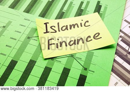 Islamic Finance Handwritten Phrase On The Yellow Page.
