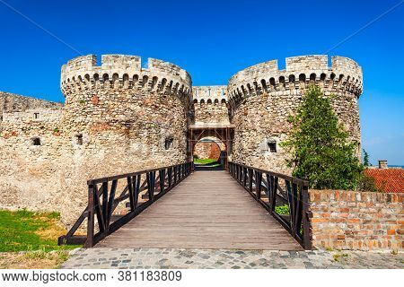 Zindan Gate At The Belgrade Fortress Or Kalemegdan Fortress In The Belgrade City In Serbia