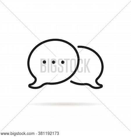 Chat Room Icon Like Speech Bubble. Flat Minimal Style Modern Black Logotype Graphic Art Design Isola