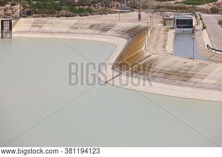 River Diversion Bed In Spain. Tajo-segura, Murcia. Spain