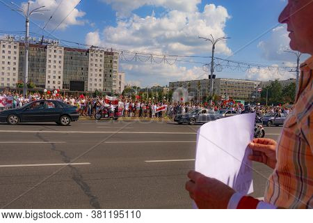 Vitebsk, Belarus - August 16, 2020 : The Rally In Belarus.