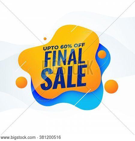 Final Sale Attractive Sale Banner Poster Design Template
