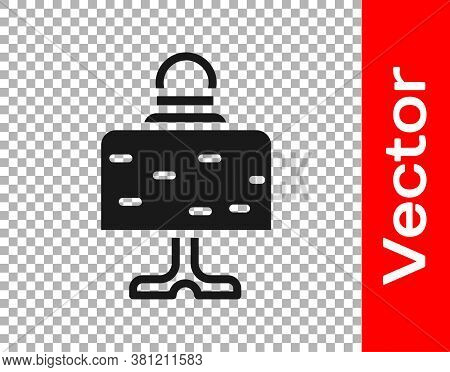 Black Magic Ball On Table Icon Isolated On Transparent Background. Crystal Ball. Vector