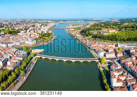 Bayonne Aerial Panoramic View. Bayonne Is A City And Commune In South-western France.