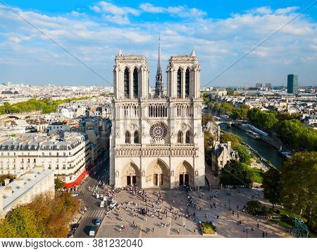 Notre Dame De Paris Or Notre-dame Cathedral Is A Medieval Catholic Cathedral In Paris, France