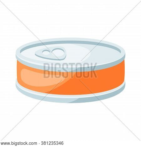 Illustration Of Stylized Canned Food. Icon In Carton Style.