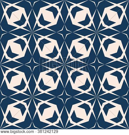 Geometric Seamless Pattern With Diamond Grid, Cross Lines, Net, Lattice, Mesh. Vector Abstract Dark