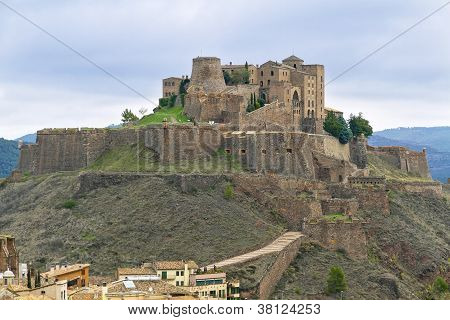 Cardona Castle Is A Famous Medieval Castle In Catalonia.