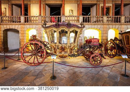 Lisbon, Portugal - June 25, 2014: National Coach Museum Or Museu Nacional Dos Coches In Lisbon, Port
