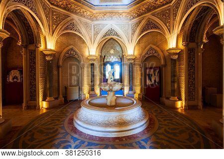 Sintra, Portugal - June 27, 2014: Monserrate Palace Or Palacio De Monserrate Is Located In Sintra To