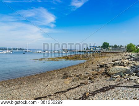 Beautiful Beach By Southwest Harbor In Maine