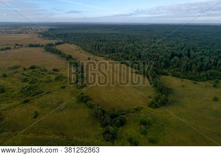 Aerial Top View Forest Tree, Rainforest Ecosystem And Healthy Environment Concept And Background, Te
