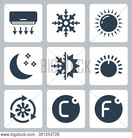 Air Conditioning And Air Conditioner Related Vector Icon Set 2